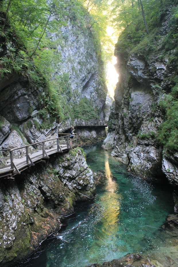 Vintgar Gorge- just outside of Lake Bled. The gorge is stunning, the waterfall was a bit of a let down
