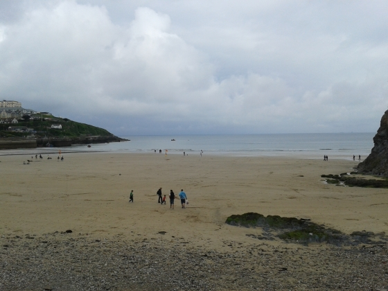 Beach in Newquay in one of the rare moments when there was no rain.