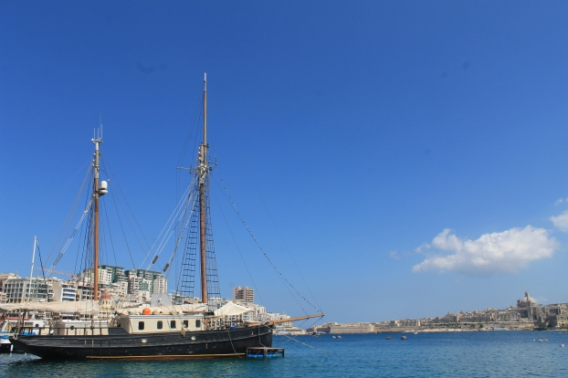 Ship dock in Spinola Bay