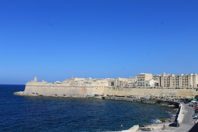 View of St Elmos Fort, Valletta Malta