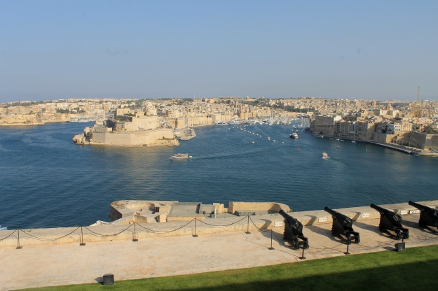 View from the saluting battery Valletta