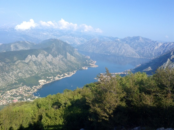 Photo stop picture looking over the Bay of Kotor