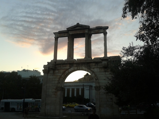 Hadrian's Gate at sunset