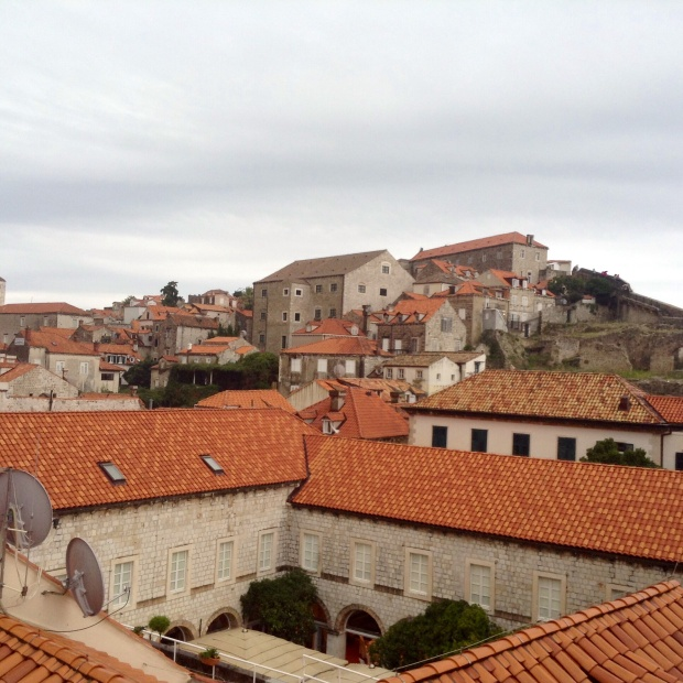 The walls provided a stunning view of the roof tops in the old town