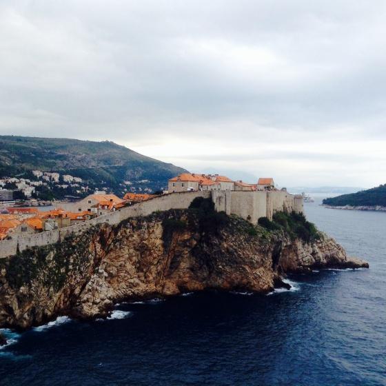 Looking back towards Dubrovnik old town