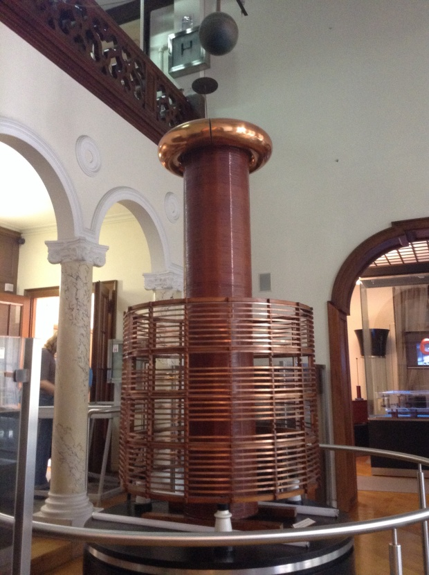 Tesla Coil, one of the few interactive parts of the museum