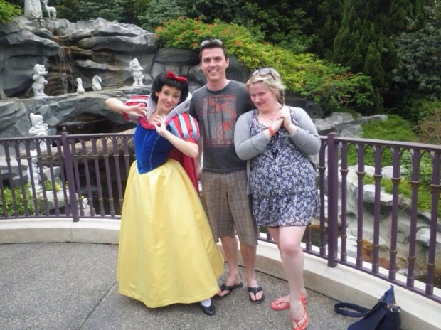 He made me forget how homesick I was with a trip to HongKong Dinseyland. He even posed with the princesses.