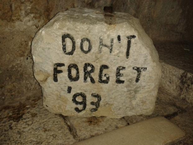 1993 was also when the Mostar bridge was destroyed