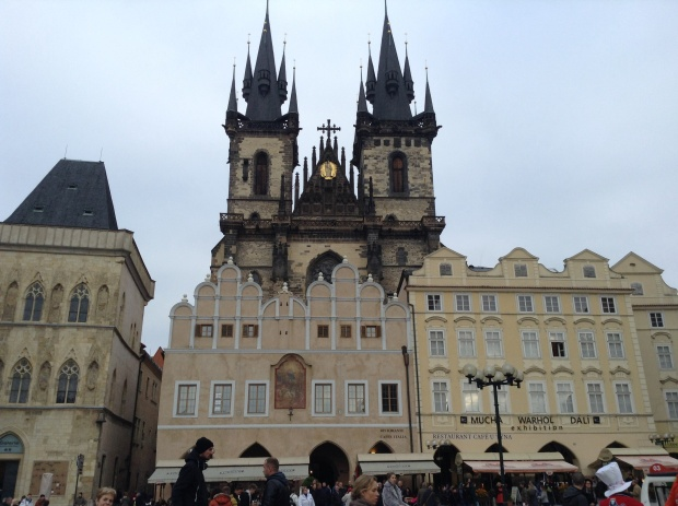 Adam and Eve towers in prague