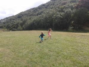 Running at park