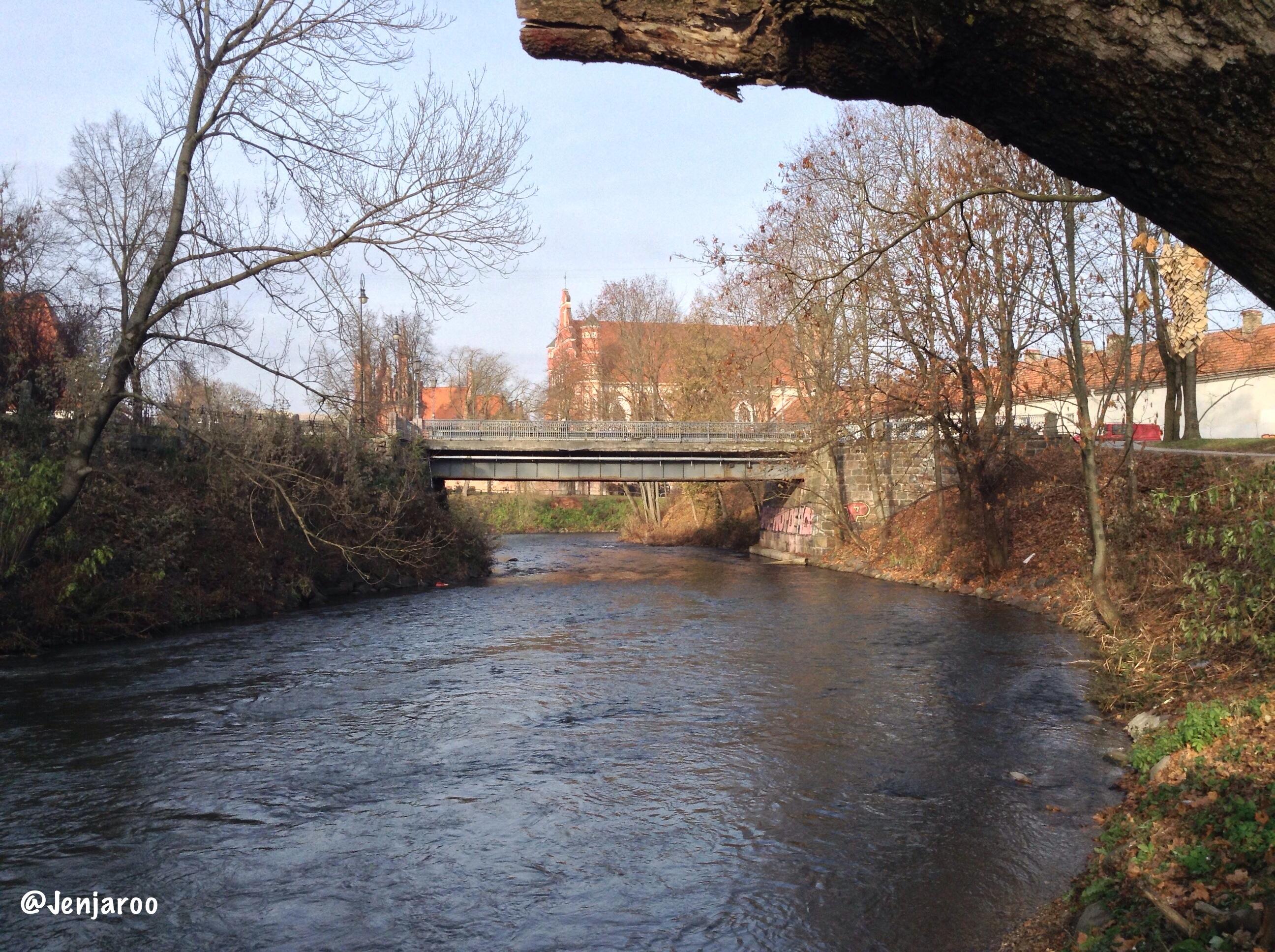 Užupis bridge and river