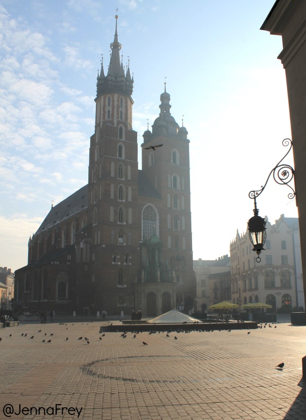Krakow Main Market square, St Marys Basilica