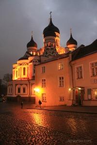 At Night in Tallinn