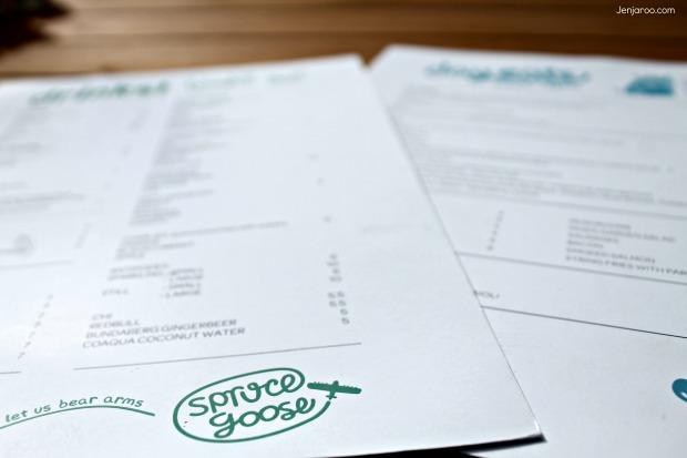 spruce goose menu