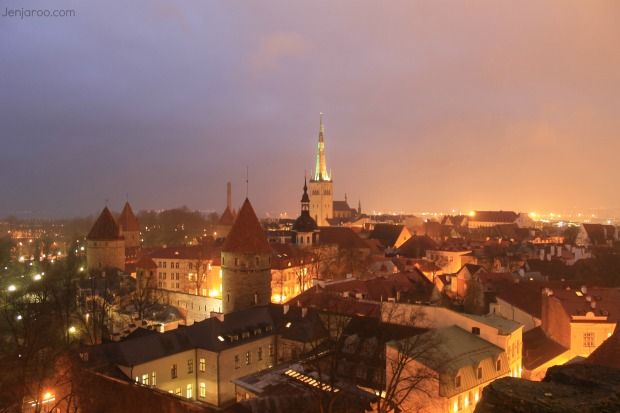 Tallinn, Estonia night
